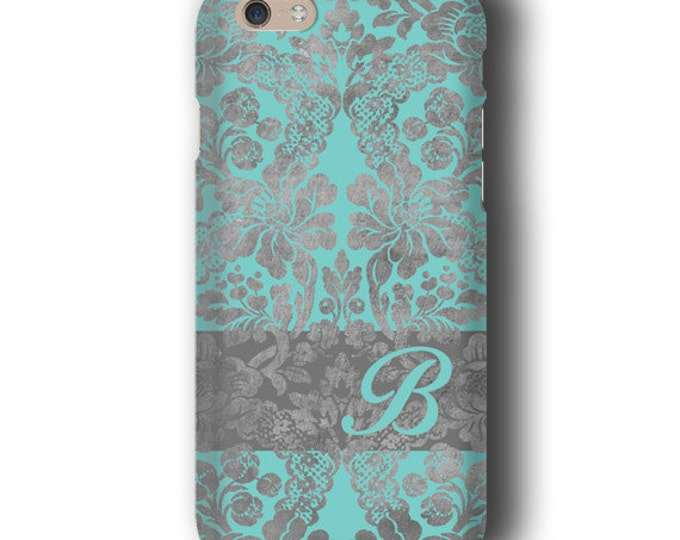 Vintage wallpaper Damask iPhone XS MAX case iPhone 12 Personalized Turquoise Samsung Galaxy S21 iPhone 8 plus Galaxy S9 iPhone SE Galaxy S20