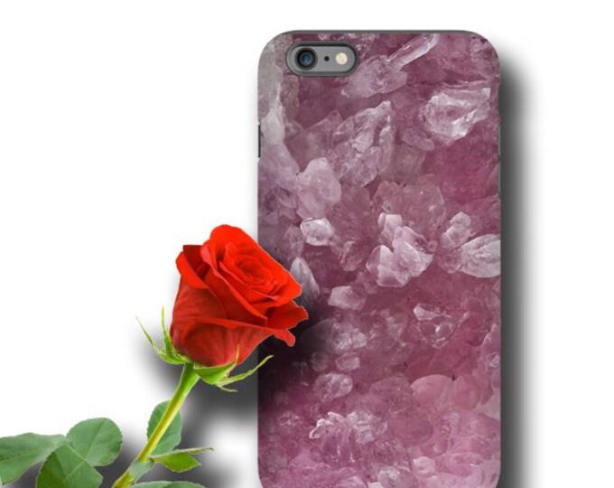 Rose quartz iPhone 12 case rose crystals Geode iPhone 7 iPhone XS iPhone 8 Galaxy S10 E Galaxy Note 10 iPhone 11 Galaxy S8 Samsung Galaxy