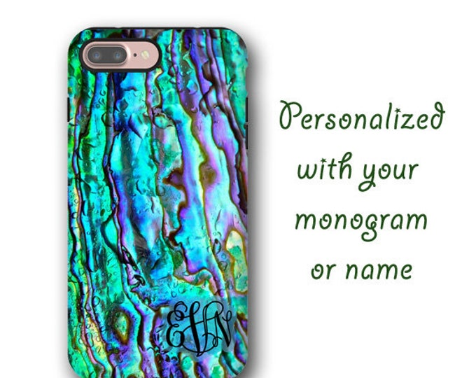 iPhone 11 Pro case Samsung Galaxy S9 Abalone shell monogram iPhone 8 iPhone 7 Plus Galaxy S8 case Galaxy S10 5G sea shell Samsung Galaxy S20