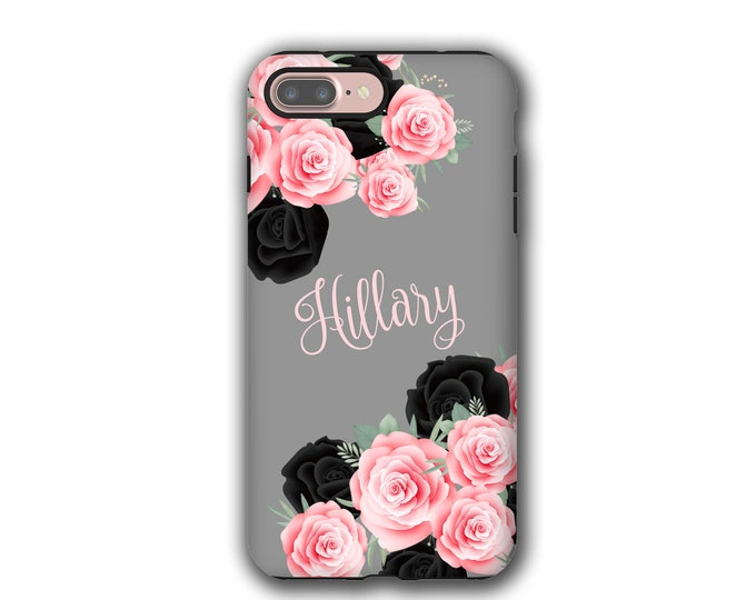 Pink and Black Roses iPhone 12 Pro case custom Samsung Galaxy S21 iPhone 8 iPhone X Galaxy Note 9 Galaxy S8 iPhone 11 Galaxy S20 iPhone 7