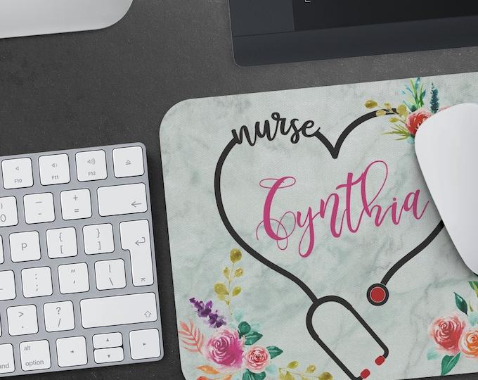 Personalized Nurse Mousepad, RN custom mouse pad, Nurse Desk Accessories, Personalized Gift for nurses, nurse graduation gift under 20