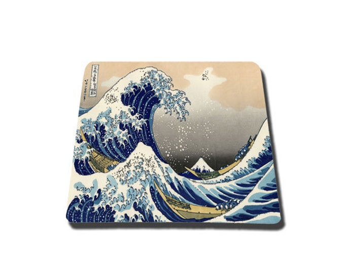 Great Wave Off Kanagawa mouse pad Tsunami mousepad art japanese painting mouse mat rectangle