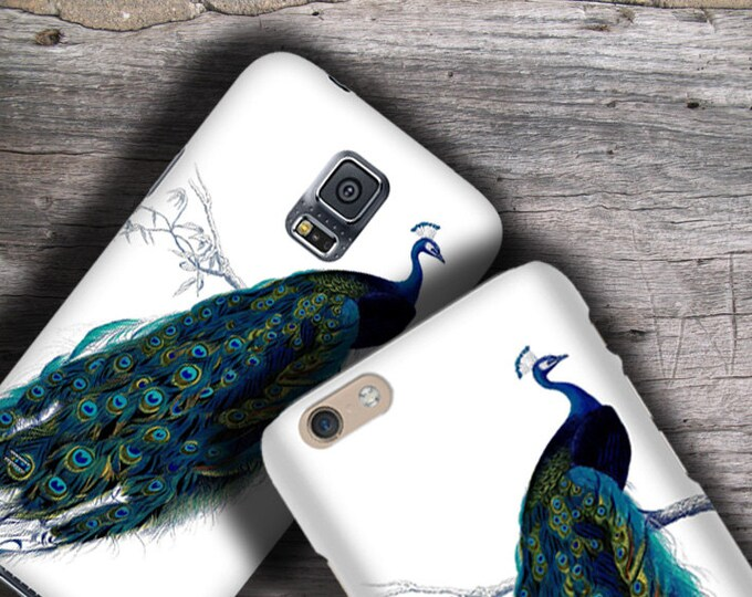 Peacock Victorian design iPhone 12 Plus Max case - Galaxy S21 iPhone 11 iPhone XS iPhone 8 Plus Samsung Galaxy Note 10 Galaxy Note 20 Ultra