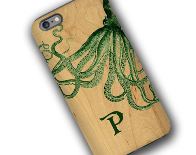 Octopus iPhone 12 custom case for men nautical iPhone 12 Pro Max iPhone 8 Plus iPhone 7 iPhone xs max Samsung Galaxy S10 Galaxy S21 Note 20