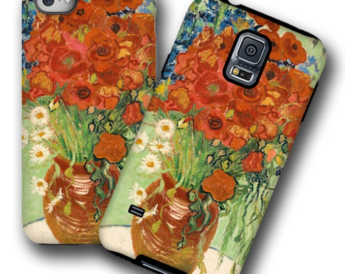 Poppy cornflower van Gogh iPhone 12 case iPhone 11 Galaxy Note 20 Plus iPhone XR Samsung S8 iPhone XS iPhone 7 Plus Galaxy S21 Galaxy Note 9