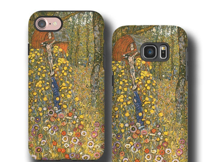 Christian iPhone 12 mini Gustav Klimt Farmgarden with Crucifix iPhone 11 Pro Max religious iPhone 12 Pro Samsung Galaxy S21 Galaxy Note 20