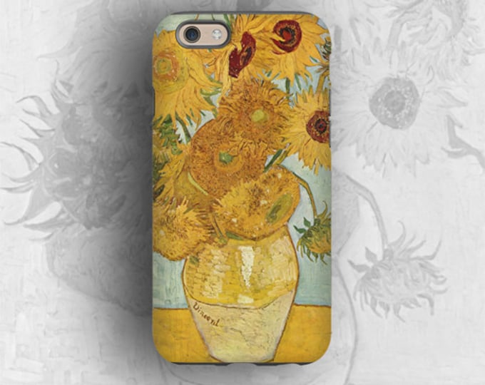 Vincent van Gogh sunflowers iPhone 12 Pro Max case Samsung Galaxy S21 iPhone XR iPhone 8 iPhone XS iPhone 12 mini Galaxy S20 Galaxy Note 20