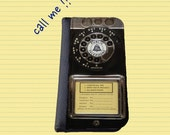 Vintage retro rotary old payphone Gift for men Samsung Galaxy Note 3 Galaxy S5 Galaxy S4 wallet case iPhone 6s case Samsung Galaxy S6 Edge