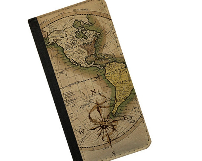 Gift for men Map of America Continent iPhone 6s case Samsung Galaxy Note 3 wallet iPhone 6 plus Samsung Galaxy S6 Galaxy S5 Galaxy S6 Edge