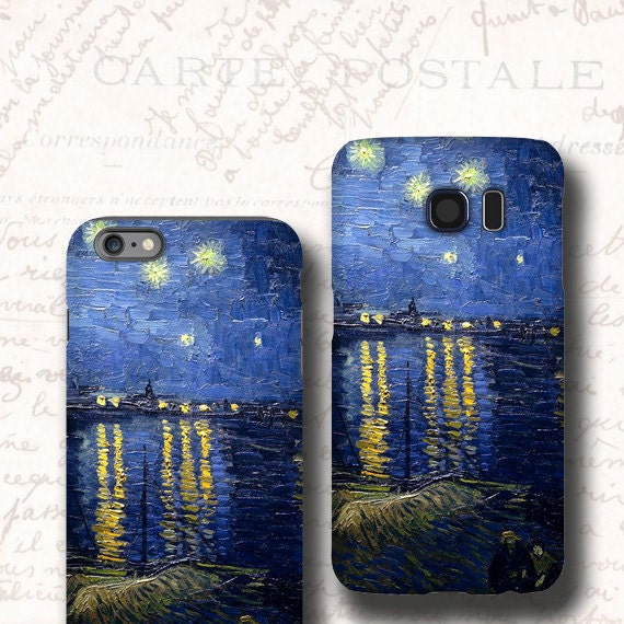 Starry Night iphone 11 case, Galaxy Note 10 Plus iphone 7 van Gogh Galaxy S8 Galaxy Note 8 iPhone 6s iPhone XS Samsung Galaxy S6 Galaxy s8