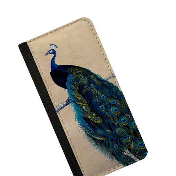 Vintage design Peacock iPhone 4s wallet case Samsung Galaxy Note 4 iPhone 6s Samsung Galaxy S6 iPhone 6 plus iPhone 5c flip case Galaxy S5