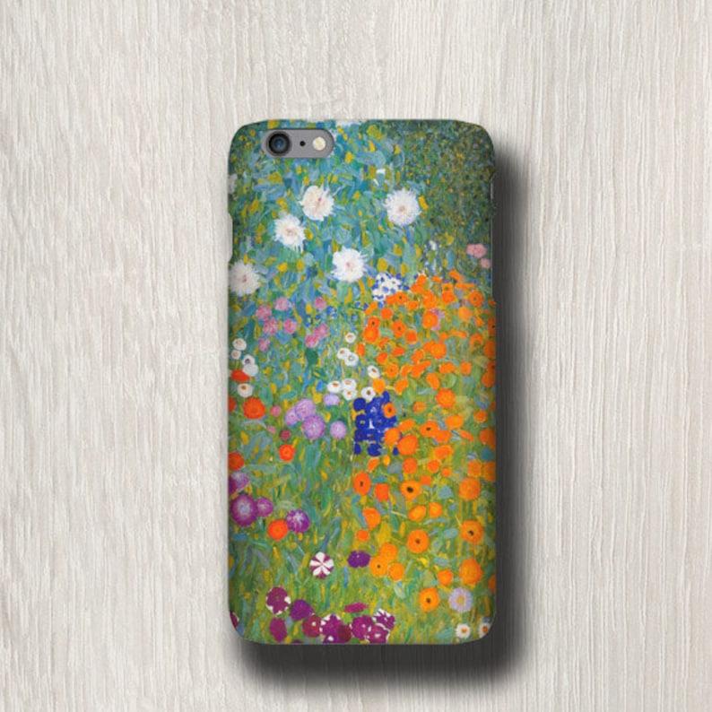 Gustav Klimt Cottage Garden iPhone 11 Pro Max case iphone 8 image 0