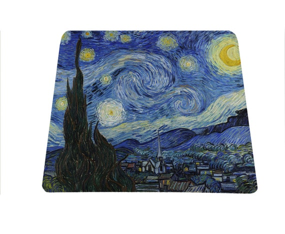 The Starry Night Vincent Van Gogh mouse pad mousepad mouse mat art lover Mother's Day gift