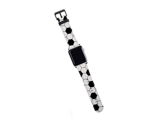 Soccer Apple Watch Band, 38mm 40mm 42mm 44,mm, faux leather Apple watch strap, Football, Fussball fits series 1 2 3 4 5 soccer player gift