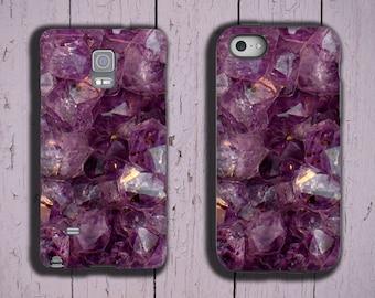 iPhone 12 Samsung Galaxy S20 plus Galaxy S10 Amethyst iPhone 7 iPhone 11 iPhone 6s purple crystal iPhone XS violet gemstone case Galaxy S21
