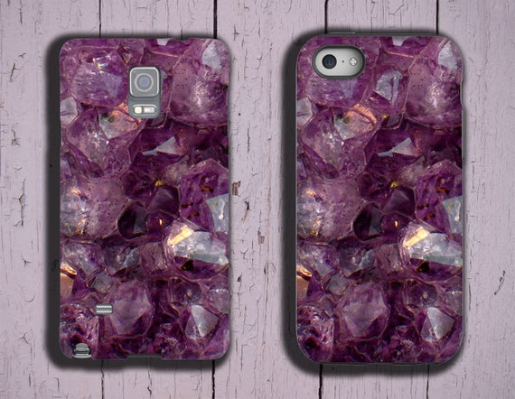 Samsung Galaxy S10 Amethyst iPhone 7 iPhone 11 iPhone 6s purple crystal iPhone XS violet gemstone case Samsung Galaxy Note 8 Galaxy S7 Edge
