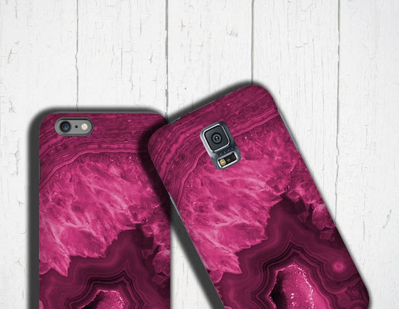 Agate stone iPhone 11 Case magenta crystal iPhone 7 Case Gemstone iPhone Case Samsung Galaxy Note 8 Galaxy S8 Galaxy S20 Ultra iPhone 8 Plus