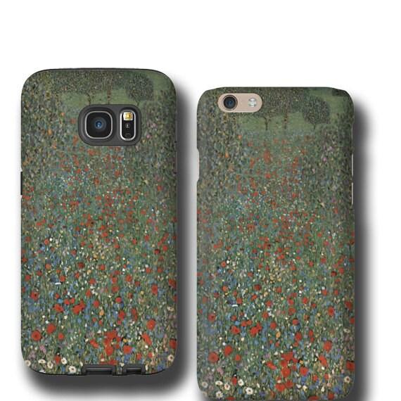 Gustav Klimt iPhone 11 Samsung Galaxy S9 Poppy Field Samsung iphone SE iPhone 6s iPhone 7 Galaxy S8 Samsung Galaxy S6 Edge iPhone 8 LG G7