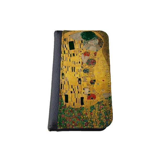 Gustav Klimt The Kiss Lovers iphone 6s Galaxy S4 wallet case Samsung Galaxy Note 4 Phone wallet case iPhone 6 Plus wallet Galaxy S6 Edge