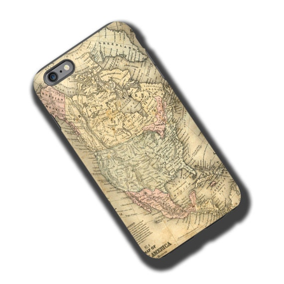 Vintage Antique Map North America iPhone 11 Pro Max case iphone 7 iPhone 5 iPhone 6s Samsung Galaxy S6 iPhone 8 Galaxy Note 10 Galaxy S6Edge
