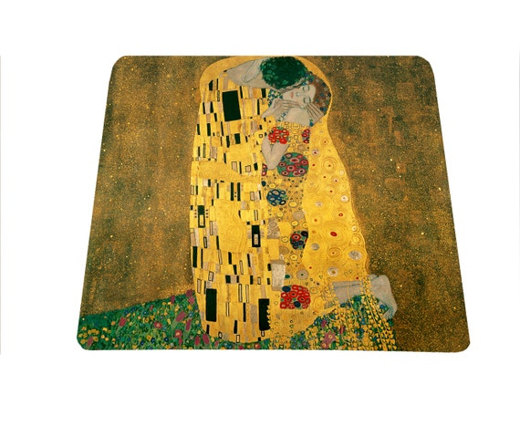 The Kiss by Gustav Klimt mouse pad mousepad, office gift under 15, art lovers mousepad, mouse mat, art teacher gift, austrian painter