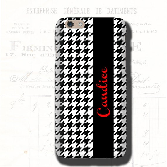 Samsung Galaxy Note 10 Houndstooth iPhone 11 Case, Personalized iPhone XR, iPhone 8, Galaxy S10E, iPhone 7 Plus, Samsung Galaxy S20 Plus