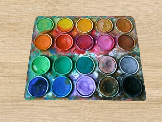 Paintbox Water color box mouse pad mousepad mouse mat rectangle artsy watercolor palette
