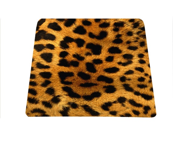 Leopard print mouse pad, Animal print mousepad, Cheetah Print Desk Accessories, Cute Mouse Pad, Cute Office Decor, Office Desk Decor