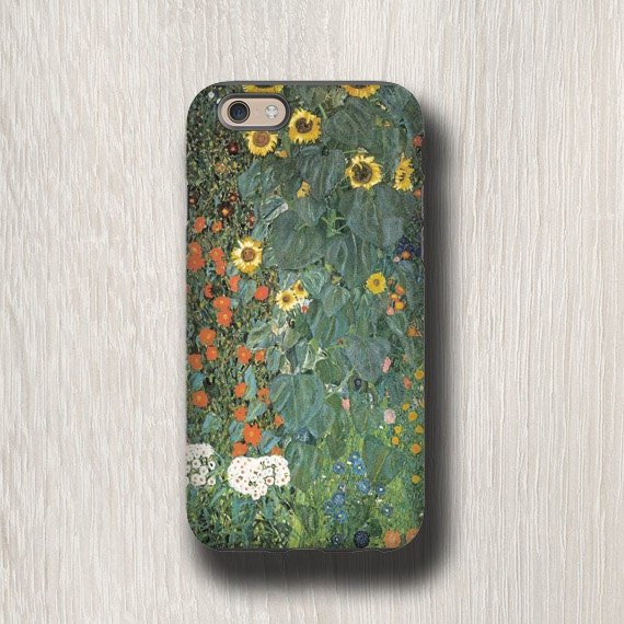 iPhone 11 Pro iPhone XS Gustav Klimt Sunflower iphone 7 case iPhone 6s iPhone 8 Samsung Galaxy S10 5G Galaxy S7 Galaxy Note 9 floral iphone