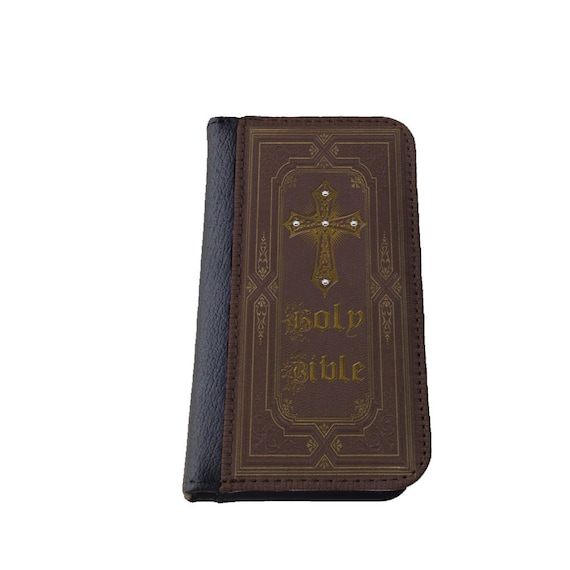 iPhone 8 Holy Bible Rhinestones iPhone 7 case Samsung Galaxy wallet iPhone 6s iPhone SE Samsung Galaxy S6 Edge iPhone 5 cover Galaxy S7 case