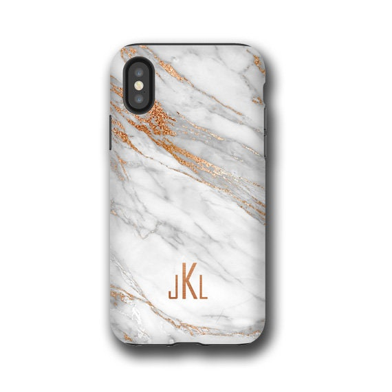 Marbled iPhone 11 pro max case, Samsung S20 Coral Gold custom monogram Samsung Galaxy Note 9, iPhone 8, iPhone XR, , iPhone xs, Galaxy S10