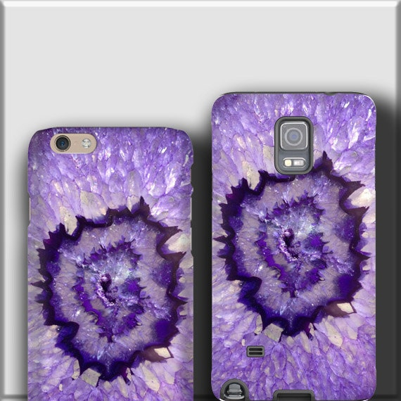 Purple Agate Stone iPhone 11 case Geode iPhone 7 iPhone X iPhone 6 plus Samsung Galaxy S10 plus Galaxy Note 8 iPhone 8 Plus galaxy s20 plus