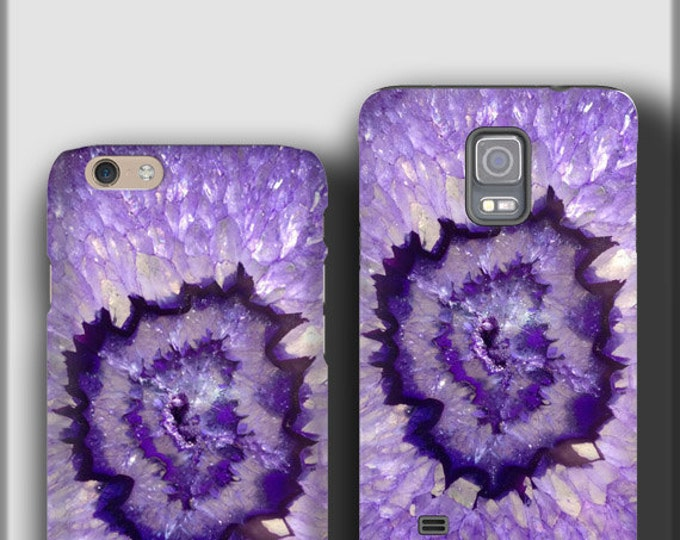 Purple Agate Stone iPhone 12 case Marbled Samsung Galaxy S21 iPhone X Samsung Galaxy S10 plus Galaxy Note 8 iPhone 8 Plus galaxy s20 plus