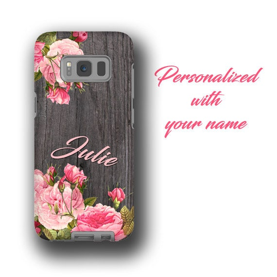 Personalized Galaxy Note 10Plus iPhone 11 phone case vintage flower bouquet name iPhone X iPhone 6s Galaxy S7 Galaxy S8 Samsung Galaxy S20