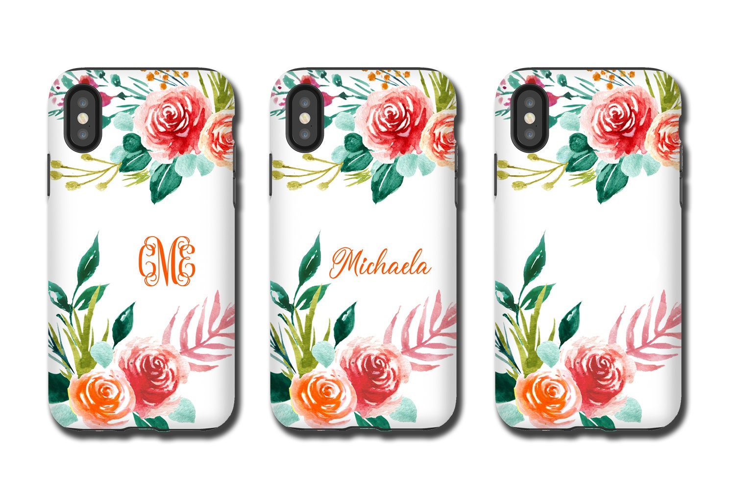 Watercolor Floral Iphone Xr Case Custom Iphone Xs Max
