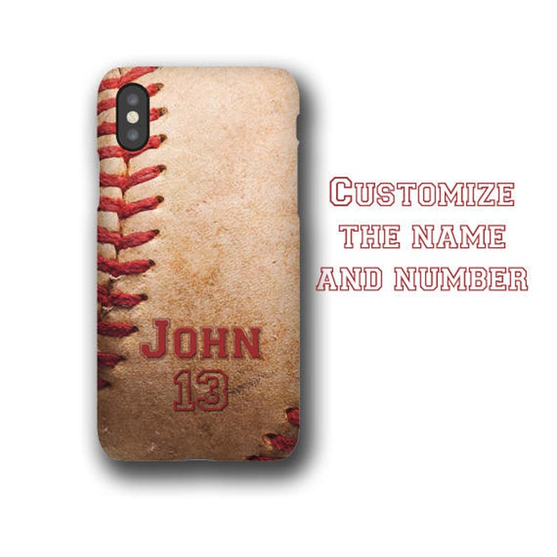 Baseball personalized iPhone 11 case customized with name & image 0