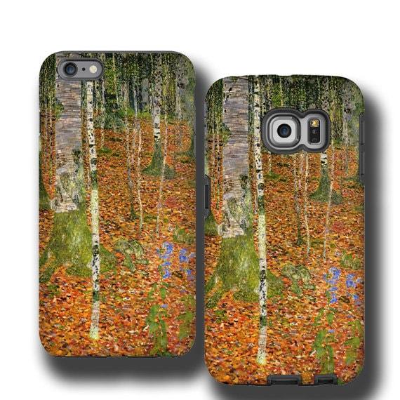Gustav Klimt Birch Trees iPhone 11 Samsung Galaxy S10 case iphone SE iPhone 6s iPhone 7 plus iPhone 8 cover Samsung Galaxy S20plus Galaxy S7