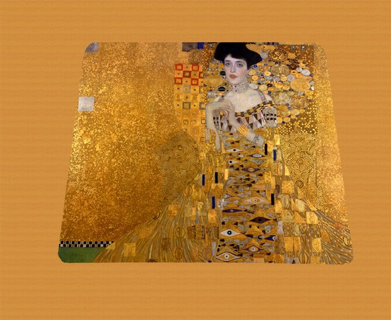 Gustav Klimt Portrait of Adele Bloch-Bauer mouse pad mousepad mouse mat rectangle artsy austrian painter