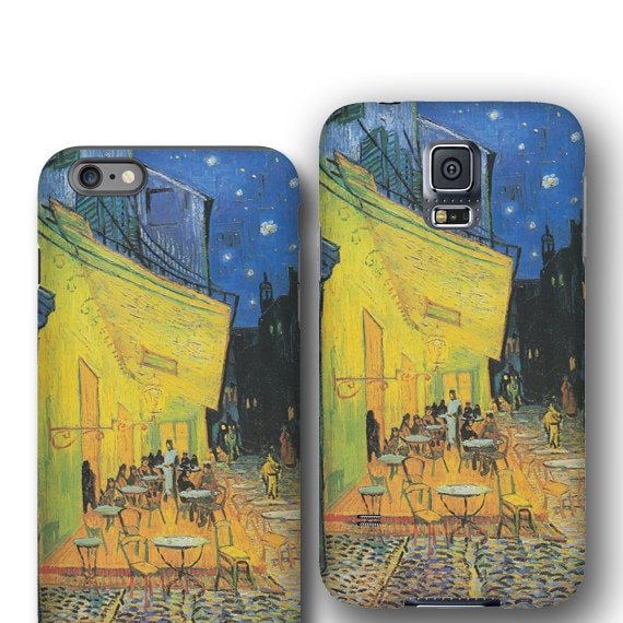 iPhone X van Gogh iPhone 11 case Cafe Terrace at Night high quality iphone 7 Samsung Galaxy Note 5 iPhone 6 plus Samsung Galaxy S6 Galaxy S8