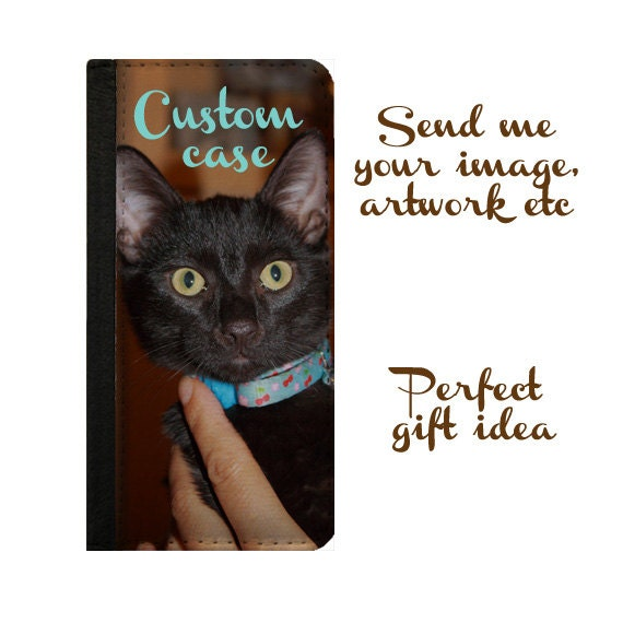 Galaxy S4 Custom wallet case iPhone 6s case personalized phone wallet Samsung Galaxy S5 iPhone 5c iPhone 6 plus Galaxy S6 Note 4- Photo gift
