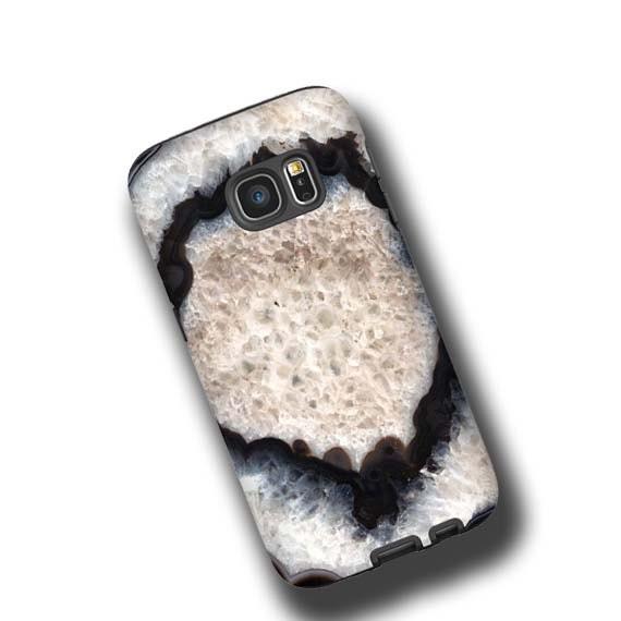 Black White Agate Stone iPhone XS MAX case iPhone 8 iPhone 7 plus iPhone 5 iPhone xr Samsung Galaxy S10E Galaxy Note 9 Galaxy S10 Plus cover