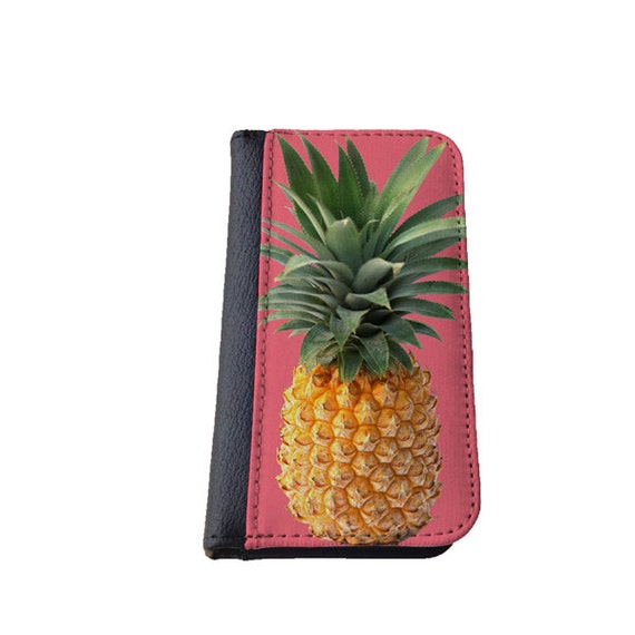 Pineapple Galaxy S4 wallet case Samsung Galaxy Note 4 Galaxy S5 iphone 6 case iPhone 4s Galaxy S6 Galaxy Note 3 phone case tropical fruit