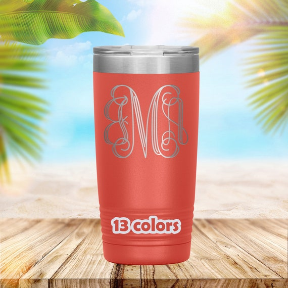 Monogram 20oz Travel Mug, Polar Camel High Quality tumbler, 12 different colors