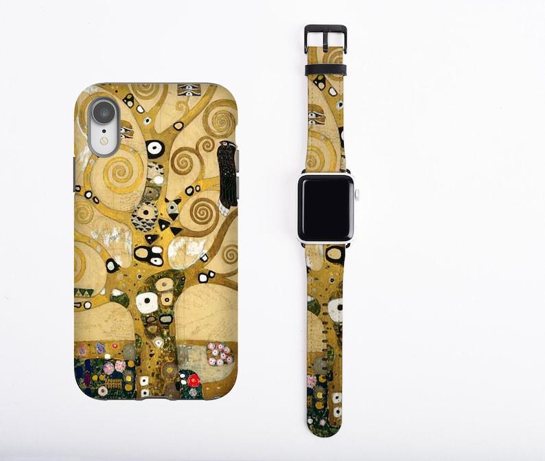 Gustav Klimt iPhone case & Apple Watch Band Tree of Life image 0