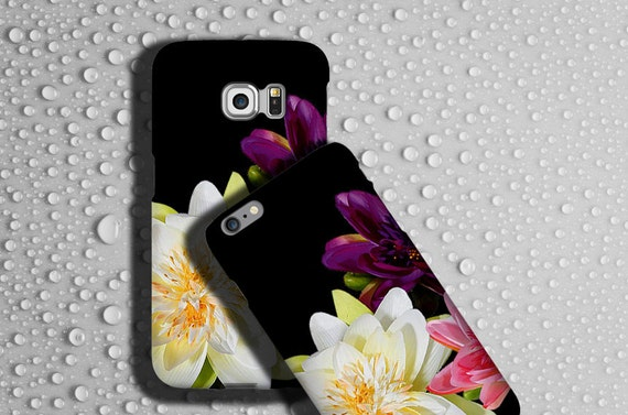 Lotus flower iphone 11 case iPhone xr Floral Samsung Galaxy Note 10 Plus case Flower iPhone x cover flower phone case Samsung Galaxy S6 Edge