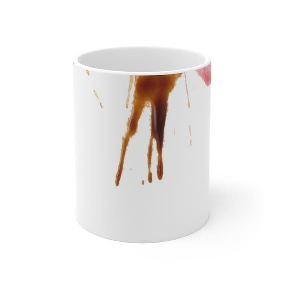 Lipstick Coffee Stains Funny 11 oz Coffee Mug  Best Father's Day Gift Unique Birthday Gift for Him or Her  Cool Gift Idea Office Gifts