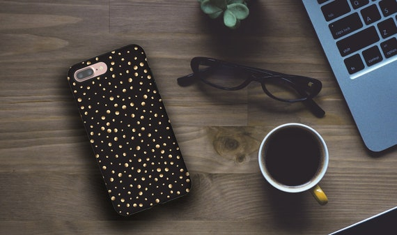 iPhone 11 Case Polka Dots iPhone XR Case dirty black iPhone 8 Plus Samsung Galaxy S10 Galaxy Note 8 iPhone 6 iPhone 7 iPhone 5s Samsung S7