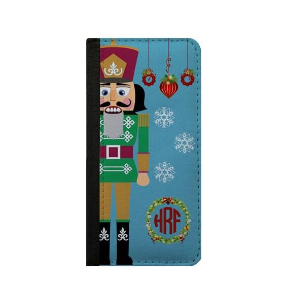 Nutcracker Christmas monogram iPhone 6s wallet case iPhone 6 Plus Samsung Galaxy S4 Note 4 iPhone 6 iPhone 5c Samsung Galaxy S6 Galaxy S5