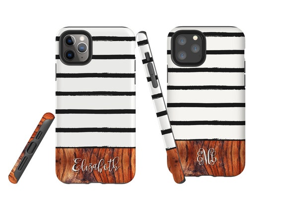 Wood Messy Stripes iPhone 11 case, custom phone case, Samsung Galaxy Note 10, iPhone XR, personalized iPhone 7, Galaxy Note 9, iPhone 8 Plus