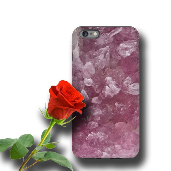 Rose quartz iPhone 11 case rose crystals Geode iPhone 7 iPhone XS iPhone 8 Galaxy S10 E Galaxy Note 10 Galaxy S6 Edge Galaxy S7 Galaxy S8